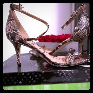 🔥Snake skin Patti Brown Sandals
